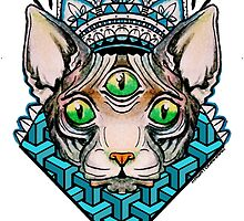 Radioactive Sphynx Cat by kayatomahawk