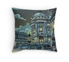 Opéra de Paris at Night Throw Pillow