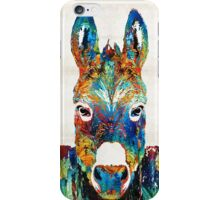 Colorful Donkey Art - Mr. Personality - By Sharon Cummings iPhone Case/Skin