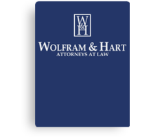 Wolfram & Hart - Attorneys At Law Canvas Print