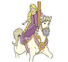 Rapunzel and Maximus Photographic Print