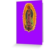 Lady of Guadalupe mural Greeting Card