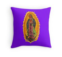 Lady of Guadalupe mural Throw Pillow