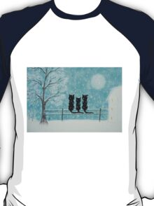 Cats Family in Snow T-Shirt