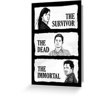 Torchwood - The Survivor, The Dead, The Immortal Greeting Card