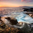 Falling Back into the Sea - Maui by Michael Treloar