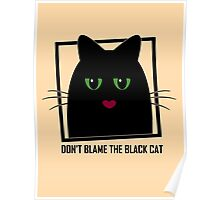 DON'T BLAME THE BLACK CAT Poster