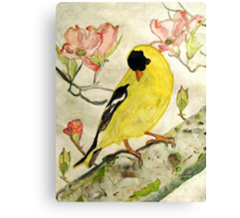 A Goldfinch Spring Canvas Print