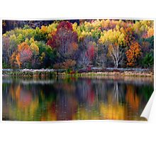 Autumn Sprinkle at Rose Valley Lake Poster