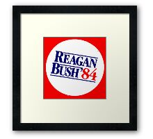 REAGAN/BUSH 1984 Framed Print