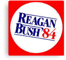 REAGAN/BUSH 1984 Canvas Print