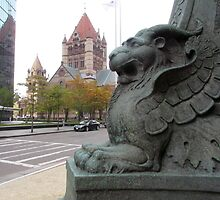 A Griffin near Trinity Church by RPBURCH  by Richard  Burchell