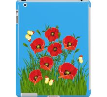 Poppies and Butterflies iPad Case/Skin