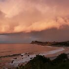 The Sunset Reflection! from Second Head, Forster.  by Rita Blom
