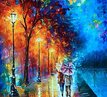 Love by The Lake - Leonid Afremov by Leonid Afremov