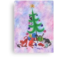 A Kitty Christmas Canvas Print