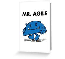 Mr. Agile Greeting Card