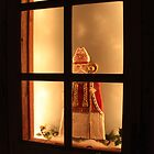 Little Antique Santa in the Window by SummerJade