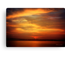 Sunset ~ Dramatic and Romantic Canvas Print