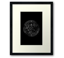 Human transmutation circle - chalk Framed Print