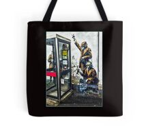 Government listening post by Banksy! Tote Bag