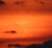 Sunrise over Dune Road Sticker