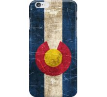 Vintage Aged and Scratched Colorado Flag iPhone Case/Skin
