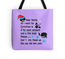 Funny new year resolutions Tote Bag