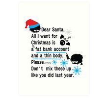 Funny new year resolutions Art Print