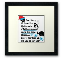 Funny new year resolutions Framed Print