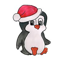Christmas Penguin by Monique Cutajar