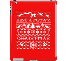 HAVE A MEOWY CHRISTMAS SWEATER PATTERN iPad Case/Skin