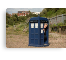 The tardis is shrinking Canvas Print