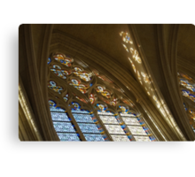 Glorious, Colorful Sunlight - Stained Glass Church Windows in a Royal Chapel in Paris, France Canvas Print