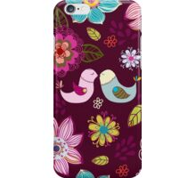 Seamless texture with flowers and birds. iPhone Case/Skin