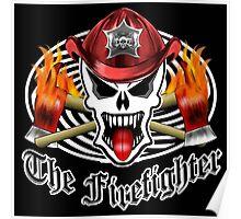 Fire Fighter Skull 2.3 Poster