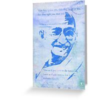 Mahatma Gandhi and some his quotes Greeting Card
