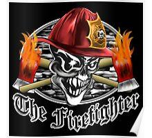 Firefighter Skull 5.3 Poster