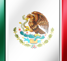 Mexican Flag - Mexico - Metallic Sticker