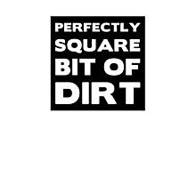 Perfectly Square Bit of Dirt Photographic Print