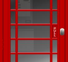 London Red Phone Phone Booth Box  Sticker