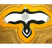 Crow Blessing original painting Photographic Print