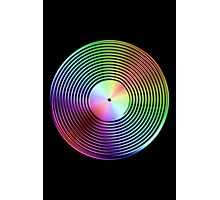 Vinyl LP Record - Metallic - Rainbow Photographic Print