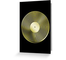 Vinyl LP Record - Metallic - Gold Greeting Card