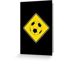 Soccer - Football - Footy - Traffic Sign - Diamond Greeting Card