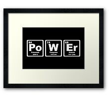 Power - Periodic Table Framed Print