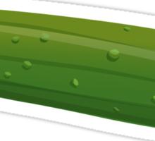 Glitch Food cucumber Sticker