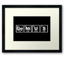 Genius - Periodic Table Framed Print