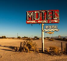 Abandoned Desert Motel Sign by UberBoy