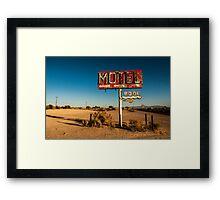 Abandoned Desert Motel Sign Framed Print